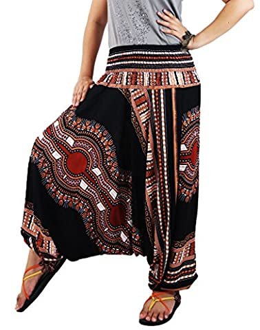 AuthenticAsia- DAE DASHIKI Collection- 2 in 1 Harem Pants & Jumpsuit / DAE-06 (Mens Dashiki)