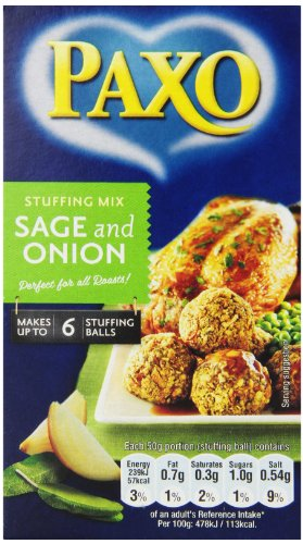 (Paxo Sage and Onion Stuffing, 3-Ounce (Pack of 8))