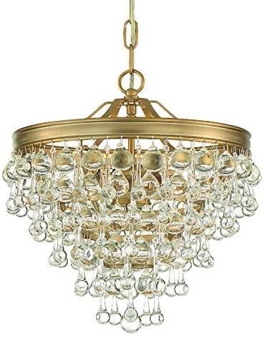Amazon Com Calypso 3 Light Vibrant Gold Mini Chandelier Home Kitchen