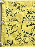 Masters champions signed golf flag Jordan Spieth Jack Nicklaus Arnold Palmer 2018 Masters beckett loa