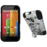 Maxtron Rugged Hybrid Hard T-Stand Dual Armor Case with Screen Proctor for Motorola Moto G XT1032 - Retail Packaging - Turtle