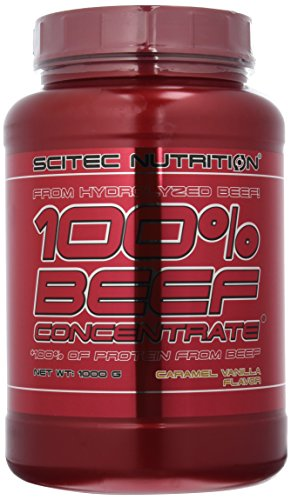 Scitec Nutrition Beef Protein Konzentrat Karamell-Vanille, 1er Pack (1 x 1 kg)