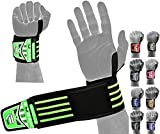 """EMRAH Supreme Quality Wrist Wraps (PAIR) 18"""" HEAVY DUTY With Thumb Loops"""