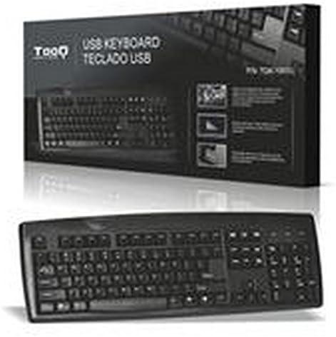 Tooq TQK-1001U - Teclado USB, QWERTY, Version en Ingles, (sin Letra Ñ)