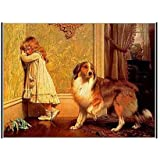 A Special Pleader by Charles Burton Barber - 22 x 28 inches - Fine Art Print / Poster