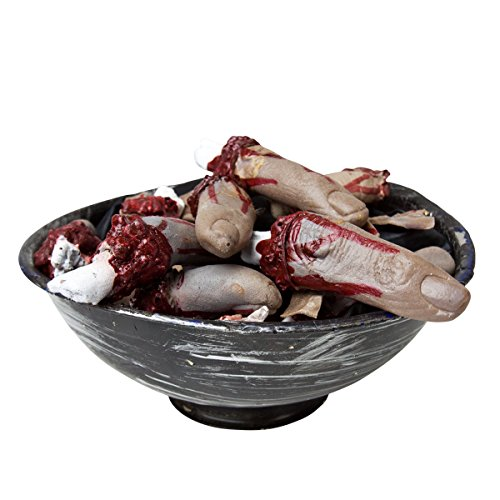 Halloween Decoration Prop Life Size Spooky Severed Cut Off Fingers (Print Off Halloween Invitations)