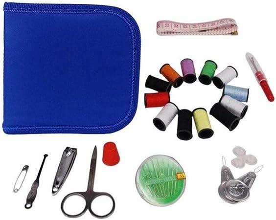 FIREPANDA Kit de Caja de Coser portátil Herramientas de Bordado de Hilo de Aguja de Coser Accesorios de Bolsa de Coser de Viaje de Punto de Cruz, Azul: Amazon.es: Hogar