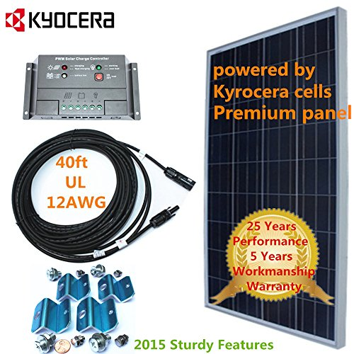 Kyocera Solar Cell 150w 150 Watt Panel Charging Kit For 12v Battery RV Boat