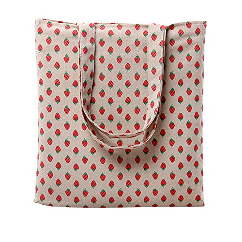 Fruit Oath Women's Tote song Print L259 Floral Canvas Strawberry Open Bag Cartoon II1wr