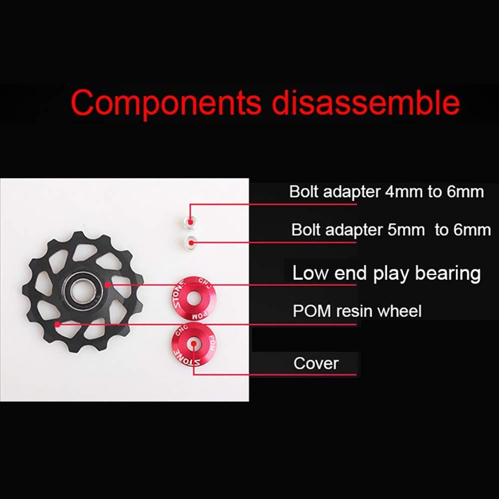 Stone Bike Jockey Wheel Narrow Wide Tooth Derailleur Pulley Plastic Resin POM Gear Guide Roller 10t 12t 14t 16t Road MTB Bike Derailleur