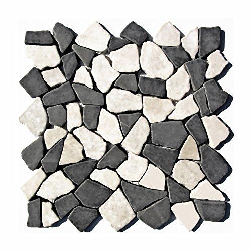 Mosaikfliesen stein  M-006 Bruchstein Marmor Mosaik Naturstein Badezimmer Fliesen Lager ...