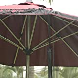 YAMEI Outdoor Garden Patio Umbrella Table Screen Mosquito Net 9-FOOT| Canopy Curtain | Fixed by Water Pipe | Fits Over 7' or 9' Umbrella