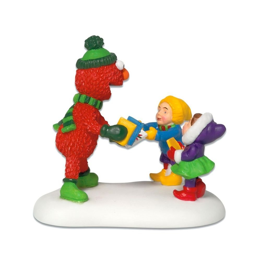 Dept 56 Accessories Christmas Gifts From Elmo North Pole Sesame Street - Porcelain 2.25 IN