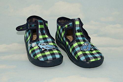 Zapatillas, Niños, Boys, Velcro, Snap, cordones zapatos, multicolor, Lovely colores, countured, suela con reforzada, materiales naturales, lienzo, antideslizante, talla 2UK–19eu, 3uk–20EU, 6UK–2