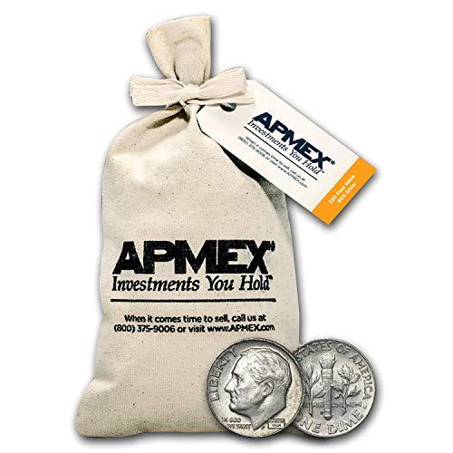 1946 Silver Roosevelt Dimes $50 Face-Value Bag Dime Brilliant Uncirculated