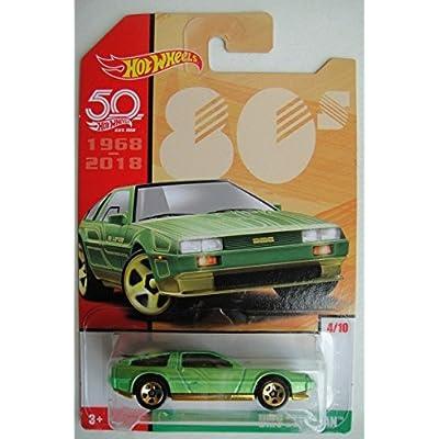 Hot Wheels 80s, GREEN DMC DELOREAN 4/10 50TH ANNIVERSARY: Toys & Games