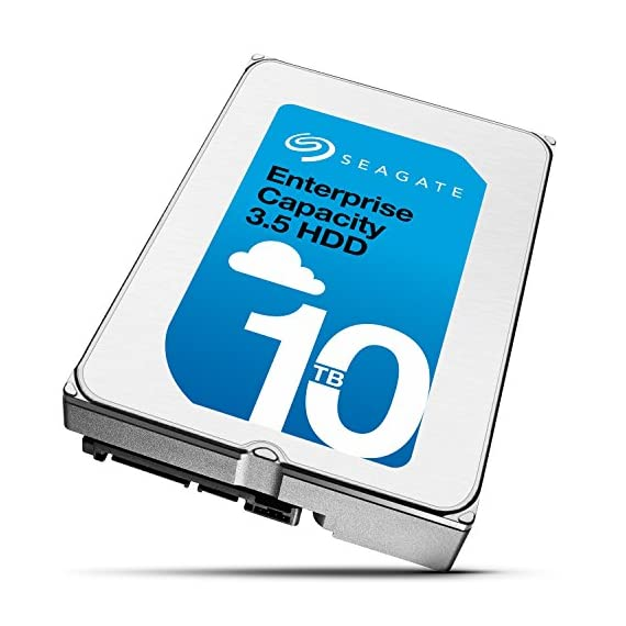 Seagate Enterprise Capacity 3.5 HDD 10TB (Helium) 7200RPM SATA 6Gb/s 256 MB Cache Internal Bare Drive (ST10000NM0016) 2 10TB per drive for 25% more petabytes per rack Industry's lowest power and weight for optimum data center TCO;Forged, wrought-aluminum base and a helium sealed-drive design with uniform density and no porosity Superior material and weld-width design for a more robust, hermetically sealed-driveenclosure that protects from helium leaks