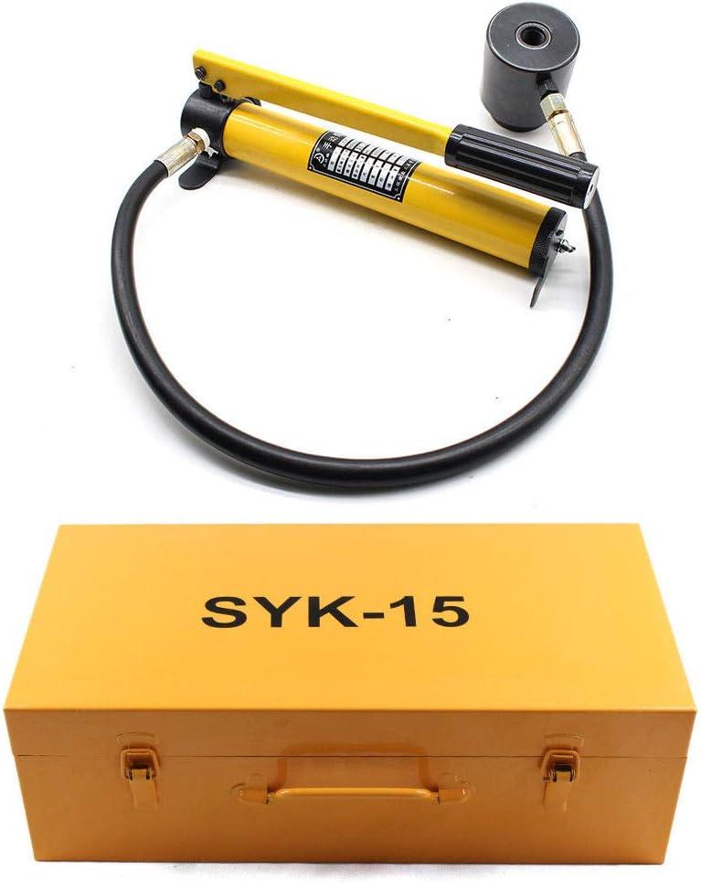 15T Hydraulisch Pumpe Blechlocher Lochstanze Zylinder Mit 10 Dies Werkzeug Set