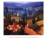 Philip Craig Tuscan Valley View 11.75 x 9.50 Poster Print