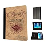 446 - Harry Potter Inspired The Marauder's Map Design Fashion Trend TPU Leather Flip Case For Apple iPad Mini 1 2 & ipad mini Retina 1 2 3 Full Case Flip TPU Leather Purse Pouch Defender Stand Cover
