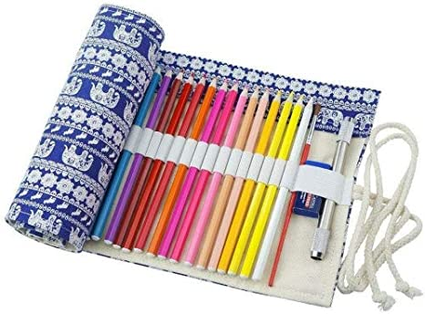 cre-12 Go estuche Estuche estuche lápiz Buzón para 72 lápices de colores (Nota: NO lápices de colores) de Retro Elephant, 72 Holes: Amazon.es: Oficina y papelería