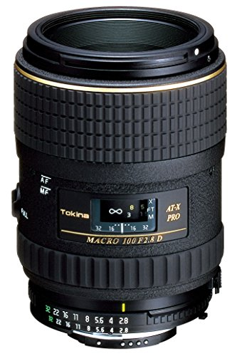 Tokina AT-X 100mm f/2.8 PRO D Macro Lens for Nikon Auto Focus Digital and Film Cameras – Fixed