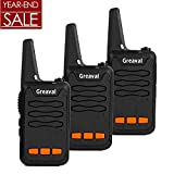 Greaval Walkie Talkies for Kids Rechargeable Children's Two Way Radios with Flash Light(Pack of 3)
