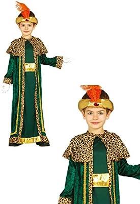 Disfraz rey Baltasar infantil 7-9 años: Amazon.es: Juguetes y juegos
