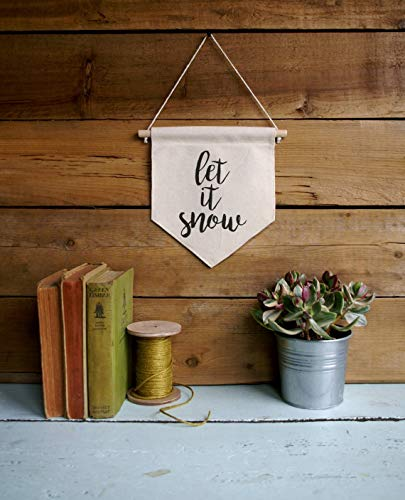 Canvas Wall Banner Home Decor Let It Snow