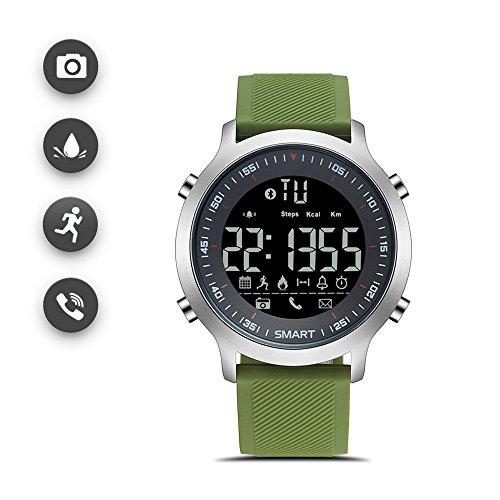 Costil Reloj deportivo inteligente, En espera durante 12 meses, profundidad a prueba de agua de 50 metros, medidor de...