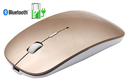 b376440c59f Tsmine Slim Rechargeable Bluetooth Mouse, Ultra-Slim Mice for Notebook, PC,  Laptop