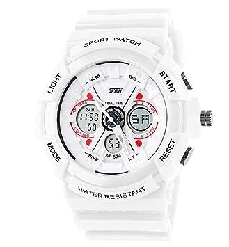 FERZA Home Reloj Deportivo Digital analógico para niños Relojes Blancos de Silicona para niños y niñas Reloj Agradable y Moderno: Amazon.es: Hogar