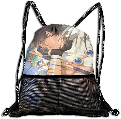 Fategrand Order (15) 人気 ナップサック 通勤 通学 マルチ バッグ 旅行 多機能 ナップサック 男女兼用 スイミングバッグ 巾着袋 登山 防水 軽量 バンドルポケッ
