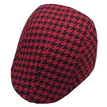 YUE-X Child Baby Flat Cap Hat Newsboy Ascot Peaked Plaid Berets