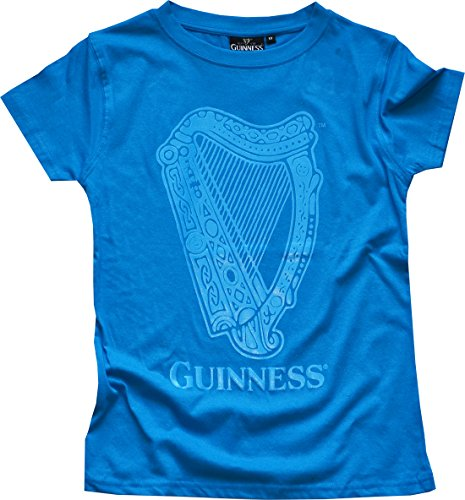 (Royal Blue Vintage Guinness Harp Ladies T-Shirt)