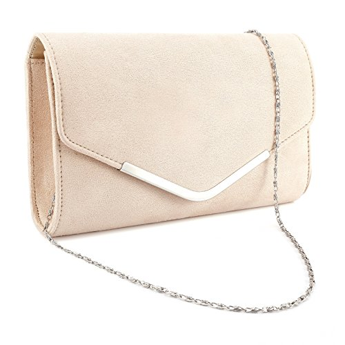 Ladies Envelope Clutch Bag Metal Bar Shoulder Purse Handbag For Wedding Prom