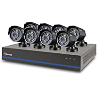 Swann SWHDK-880508-US 8 Channel 720p DVR with 8x Bullet Cameras (Black)