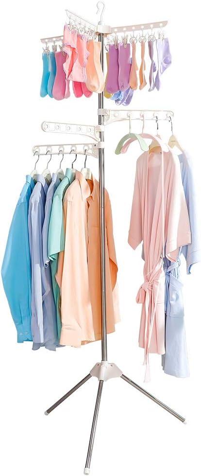 Clothing Drying Organizer Storage Rack Coat Shelving Unit Balcony Hangers Shelf