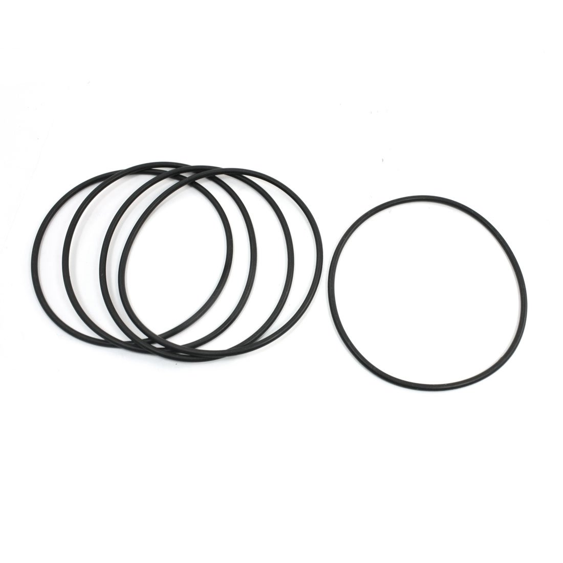 110 mm x 2,65 mm Black Rubber O Ring Oil versiegelt Dichtungen Unterlegscheiben, 5 Stü ck Sourcingmap a14022400ux0515