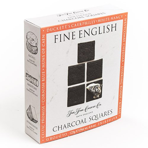 Fine English Charcoal Squares by The Fine Cheese Co. (4.4 ounce)