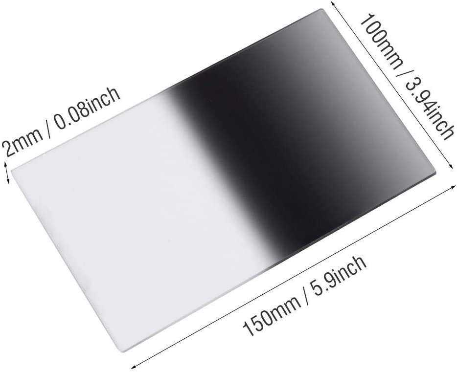 Graduated Color Filter Gift for Photographer Youth Adults GND8 1001502.0mm Soft Square Filter Neutral Graduated Fit Cokin Z Holder Camera Photography Lens