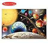 Melissa & Doug Solar System Floor Puzzle (Floor Puzzles, Easy-Clean Surface, Promotes Hand-Eye Coordination, 48 Pieces, 36' L x 24' W)