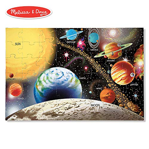 Melissa & Doug Solar System Floor Puzzle (Floor Puzzles, Easy-Clean Surface, Promotes Hand-Eye Coordination, 48 Pieces, 36