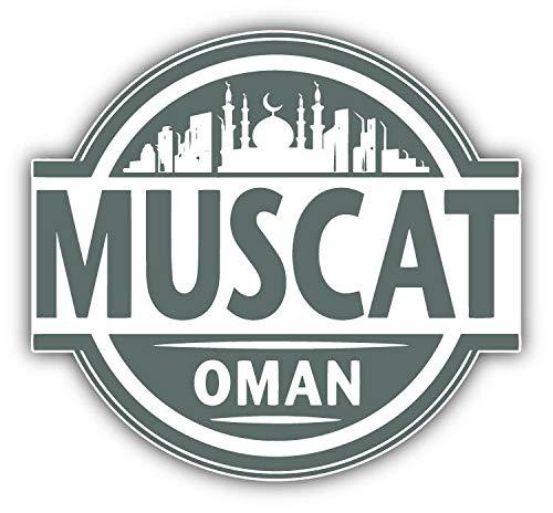 (KW Vinyl Magnet Muscat Oman Skyline Label Truck Car Magnet Bumper Sticker Magnetic 5