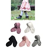 Baby Toddler Girls Tights Knit Cotton Pantyhose Dance Leggings Pants Stockings (5 pack twist, 1-2 Years)