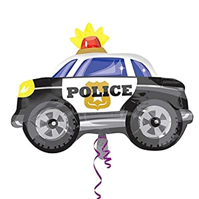 Anagram Police Car Shaped Junior Shape Foil Balloon: Toys & Games