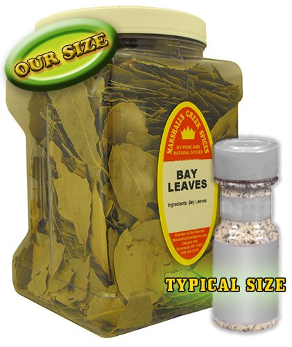 Family Size Marshalls Creek Spices Bay Leaves Whole (Laurel Leaves),4 Ounces