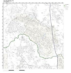 Amazoncom ZIP Code Wall Map of The Woodlands TX ZIP Code Map