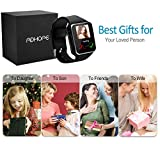 Bluetooth Smart Watch Touchscreen with Camera,Unlocked Watch Cell Phone with Sim Card Slot,Smart Wrist Watch,Waterproof Smartwatch Phone for Android Samsung IOS Iphone 7 Plus 6S