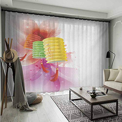 Bluemat Multicolor Semi Sheer Curtains W 96